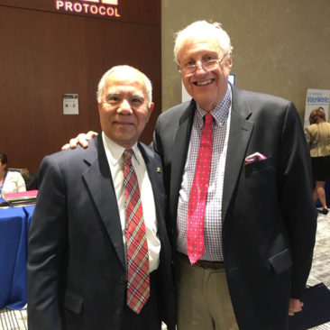 iACD president Prof. Jon Suzuki With IACD Chairman Dr. P.D.Miller speaking at AAP meeting in Boston Sept. 8~12, 2017